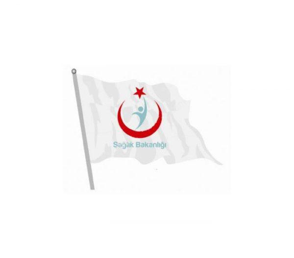 Kızılay Bayrağı (Sağlık Bakanlığı Logolu)